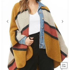 Forever 21 Woven Heart Brushed Shawl
